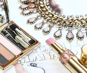 jewelry, lipstick, and makeup image