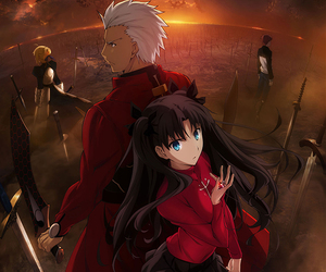 archer, fate stay night, and saber image