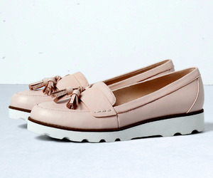 lovely, mocassins, and pale pink image