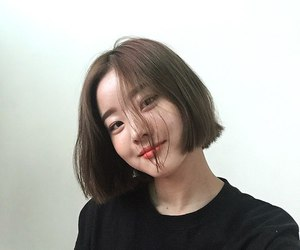 smile, asian girl, and eyes image