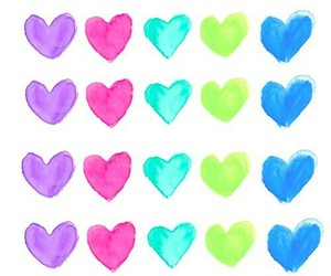 colorful, heart, and wallpaper image