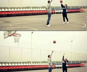 Basketball, boy, and girl image