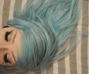 hair, blue hair, and blue image