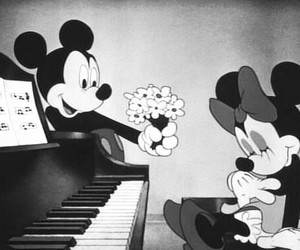 disney, flowers, and minnie image