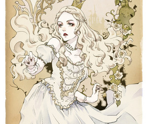 alice in wonderland, anime, and white queen image