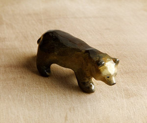 brown bear, woodland, and tiny bear image