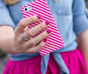 iphone, pink, and fashion image