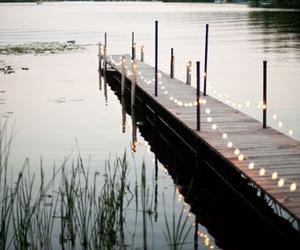 light, lake, and nature image