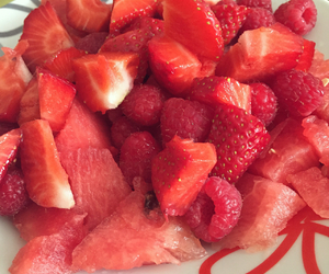 FRUiTS, red, and strawberries image
