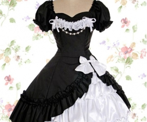 dress and gothic lolita image
