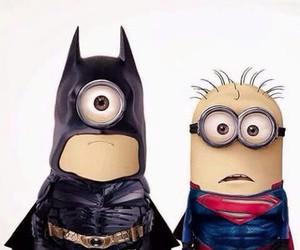 minions, batman, and superman image