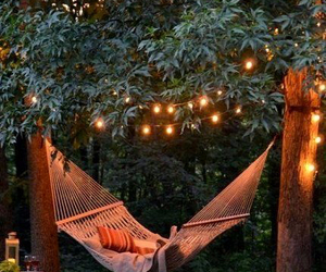 light, hammock, and summer image
