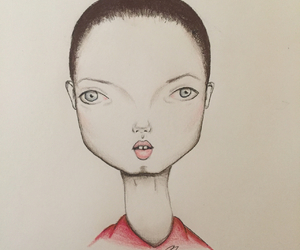 art, drawing, and lindsey wixson image