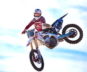 motocross, racing, and motorcycle image