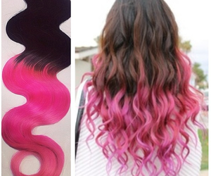 blonde, hair extensions, and ombre image