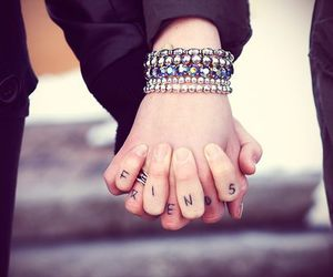 friends, hands, and best friends image
