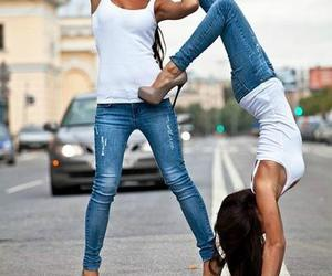 girl, heels, and jeans image