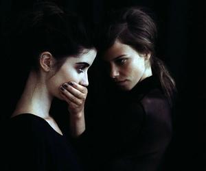 girl, dark, and black image