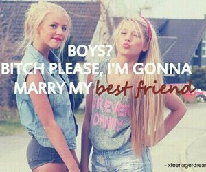 best friends, boy, and marry image