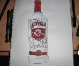 alcohol, modest mouse, and art image