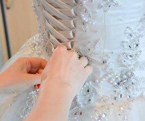 bride, happy, and wedding image