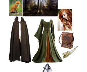 fashion, medieval, and Polyvore image