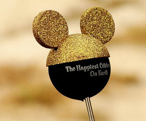 disney, gold, and mickey image