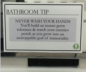 funny, germs, and hands image