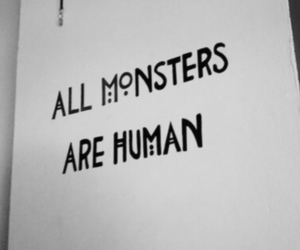 american horror story, human, and monsters image