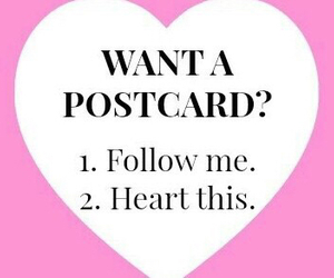 postcard and heart image