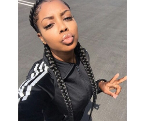 braid, hair, and box braids image
