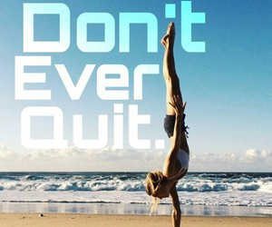 beach, gymnastic, and Just Do It image