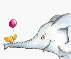 balloon, bird, and drawing image