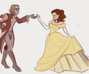 once upon a time, rumplestiltskin, and belle image