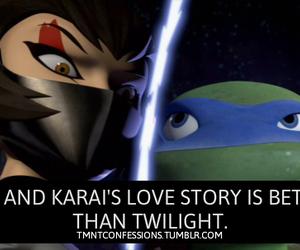 Leonardo, tmnt, and karai image
