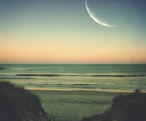 indie, beach, and moon image