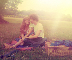 couple, love, and picnic image