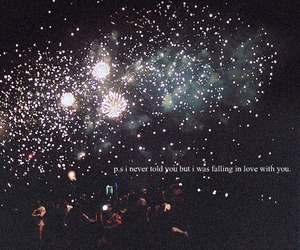 love, fireworks, and text image