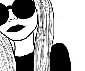 art, black&white, and grunge image