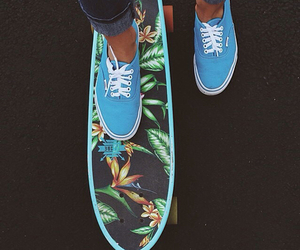 vans, skate, and blue image