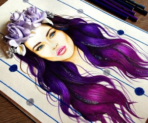 art, purple hair, and tumblr image