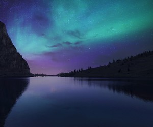 aurora, sky, and nature image