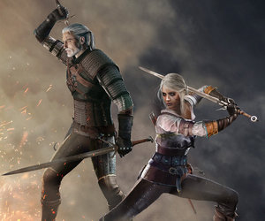 the witcher, ciri, and gerlalt image