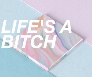 quote, life, and bitch image
