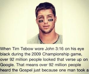 tim tebow, john 3:16, and gospel image