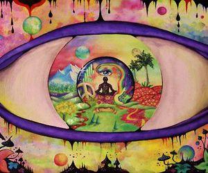 eye, art, and peace image