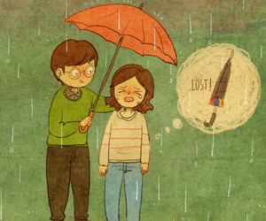 couple, love, and umbrella image