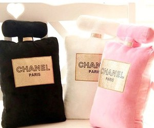 chanel, perfume, and pillow image
