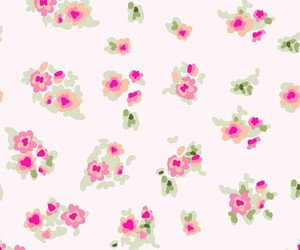 floral, cute, and pink image
