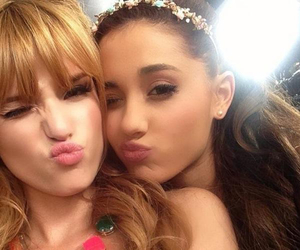 ariana grande, bella thorne, and friends image